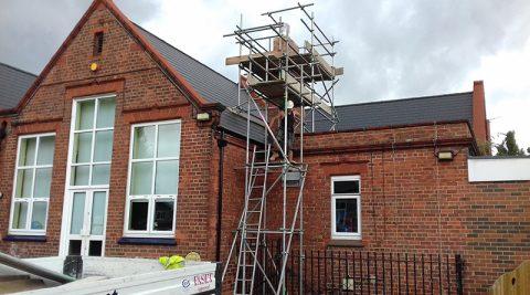 Dodmire School scaffolding project