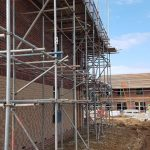 Scaffolding at a new housing project for Darlington Borough Council.