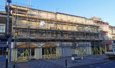 Independent scaffold at Stockton Town Centre