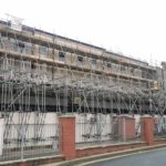Scaffold asssembled to bespoke design and calculation